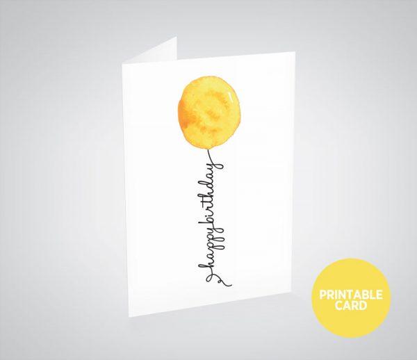Balloon Printable Birthday Cards Inkling Creative